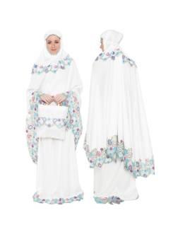 Java Seven Mukena Wanita Muslimah Putih Velvet STM 066