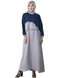 Inficlo Pakaian Gamis Wanita Abu Balotelly SMR 686