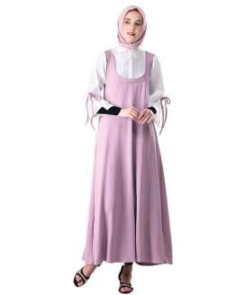 Inficlo Pakaian Gamis Wanita Ungu Cotton SRT 172