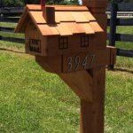 Decorative Cedar Wood Mailbox Post 6x6 Wilray Designs