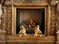 Custom Curtain Screen and Andirons  Wilshire Fireplace Shop