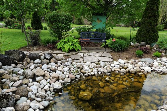 awesome river rock landscaping
