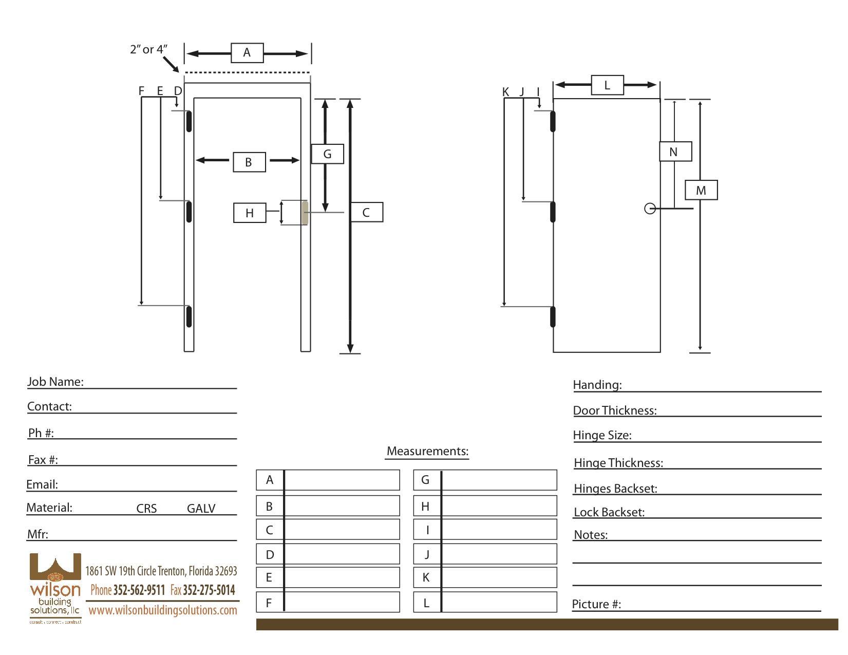 Door Handing Sheet Amp Commercial Door Replacement Door
