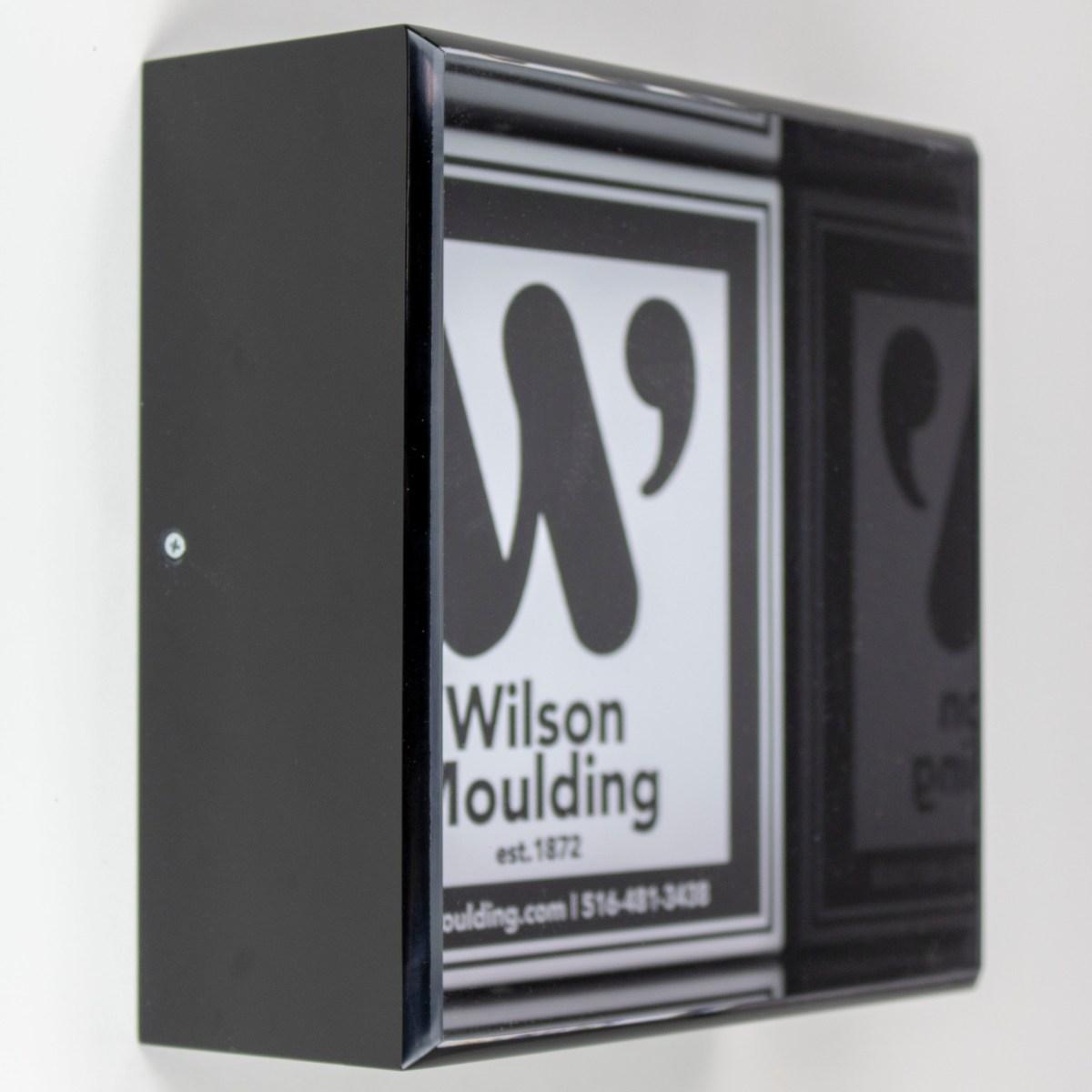 Black Acrylic Box - Wilson Moulding