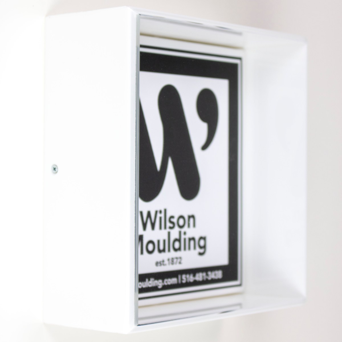 White Acrylic Box - Wilson Moulding