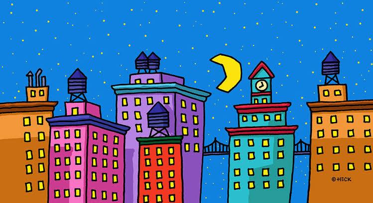 City Lights | Ed Heck Art work | Wilson Moulding