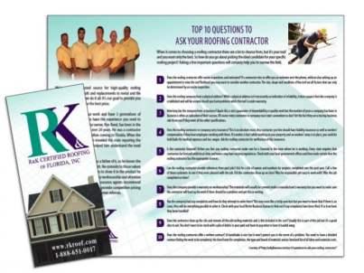 Roofing Brochure Sample