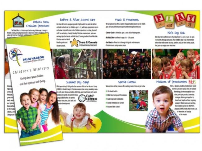 Church Brochure Examples Ideal Vistalist Co