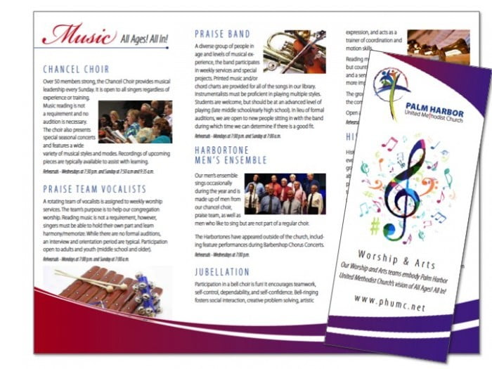 Church Outreach Program Brochure Samples Wilson Printing USA