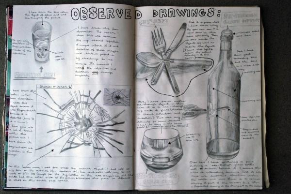 Gcse Sketchbook Examples Art