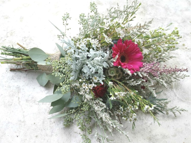 cranberry gray bridal bouquet wedding wilsons floral design helotes