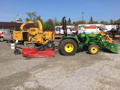 We have various attachments for rent that go with the tractor!