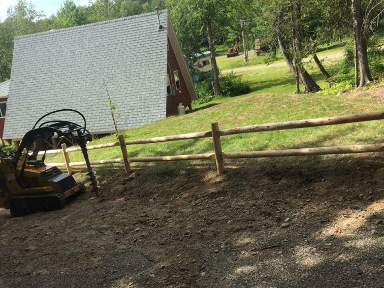 mini skid fence work2 first time equipment renters