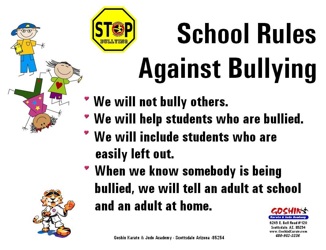 School Rules Against Bullying
