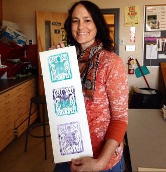 Props to Kara G. for gifting Ms. Collard a copy of her amazing turtle print.