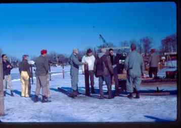 Winter dock work