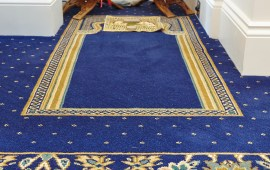 Beautiful Jewel Inspired Wilton Carpet For Fareham Mosque
