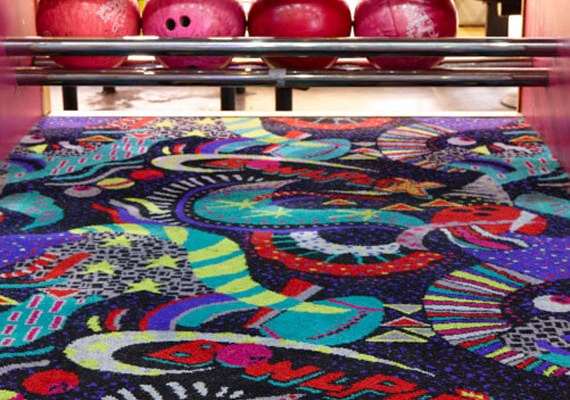 Leisure carpet, bespoke or branded axminster carpet for leisure venues