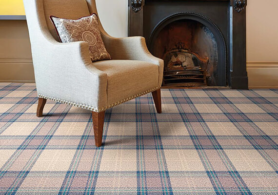 Contract Carpet - Iona In Stock tartan carpet: Axminster Carpet by Wilton Carpets