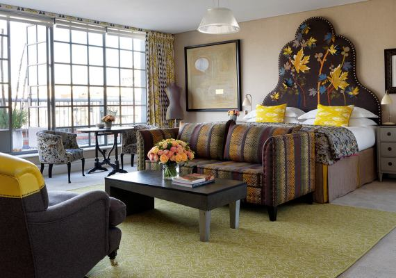 Kit Kemp Wilton Carpet Bespoke Carpet Collection The Soho Hotel The Terrace Suite