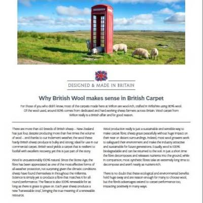 British Wool for British Carpets