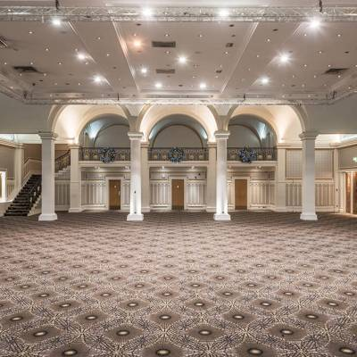 Bespoke Ballroom Carpet at The Queens Hotel in Leeds by Wilton Carpets