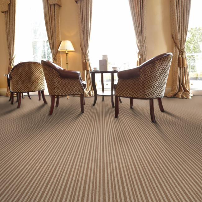 Berwick Heiton striped tufted carpet from Wilton Carpets