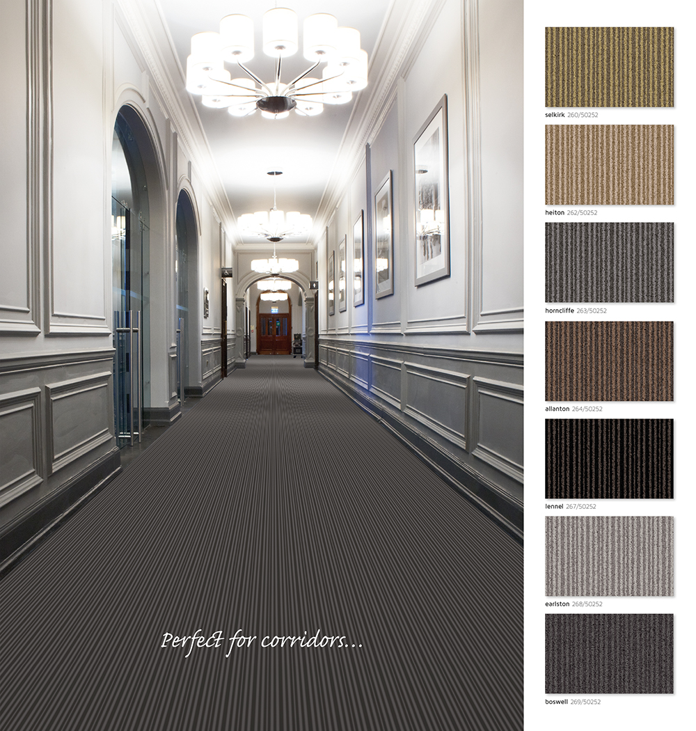 Berwick Tufted striped carpet from Wilton Carpets