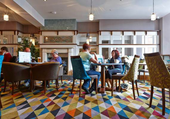 Bespoke Pub Carpet by Wilton Carpets, The Blue Bell, Hemsworth