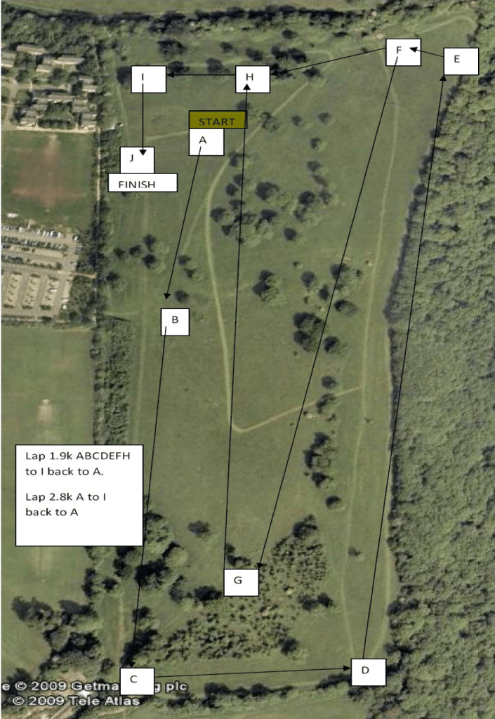 Tri County Championships Course Map 2018