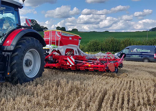 Pottinger Terrasem drill put to work