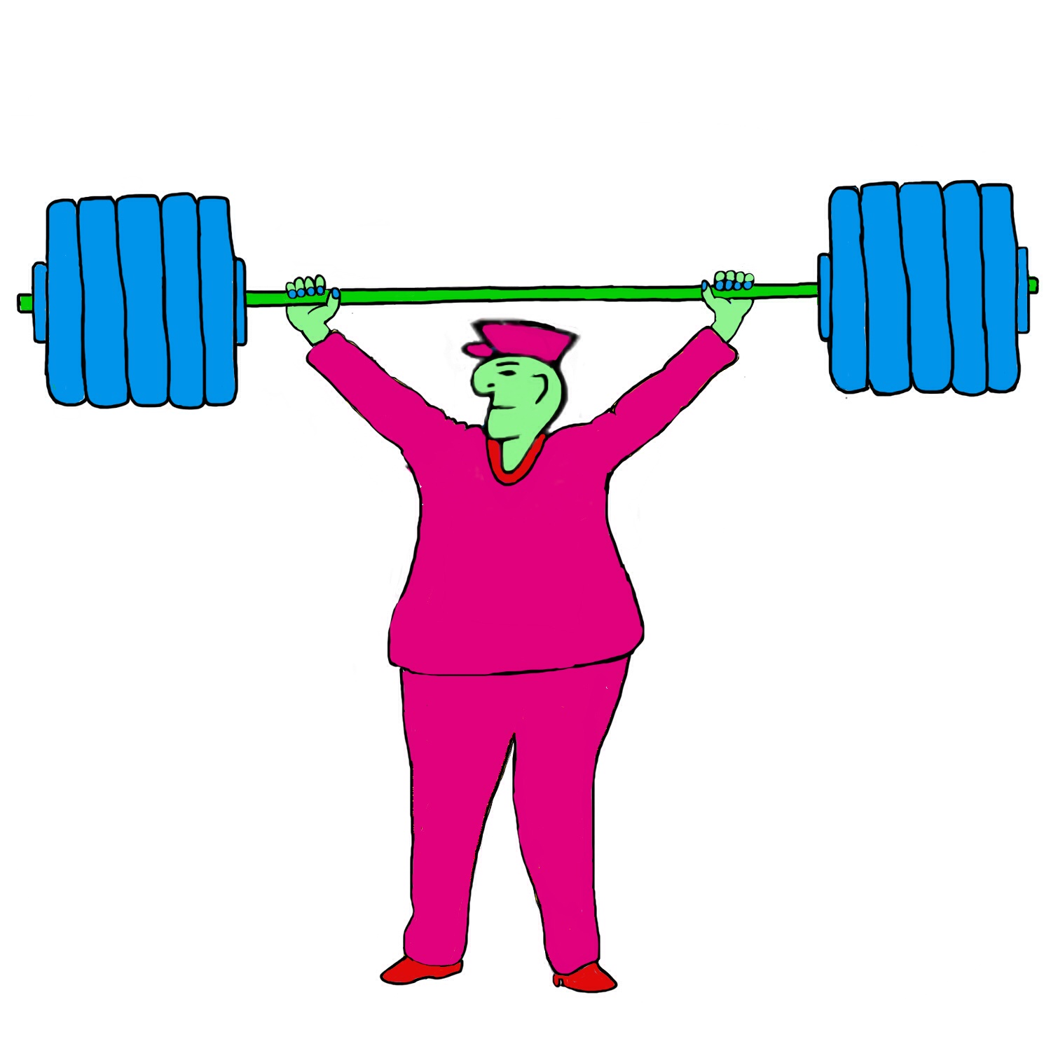 Bus Driver weight lifting