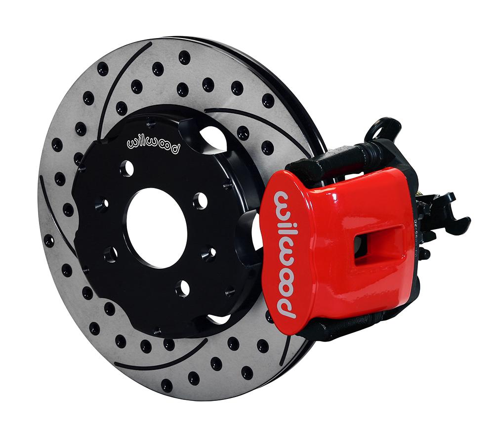 hight resolution of wilwood combination parking brake caliper rear brake kit red powder coat caliper srp drilled
