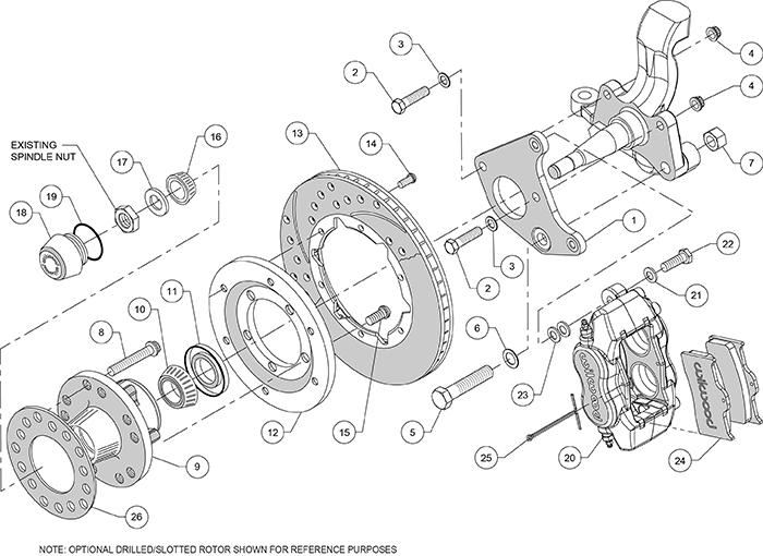 Mopar 1962-74 B & E Body Wilwood Disc Brake Kit w/ 8