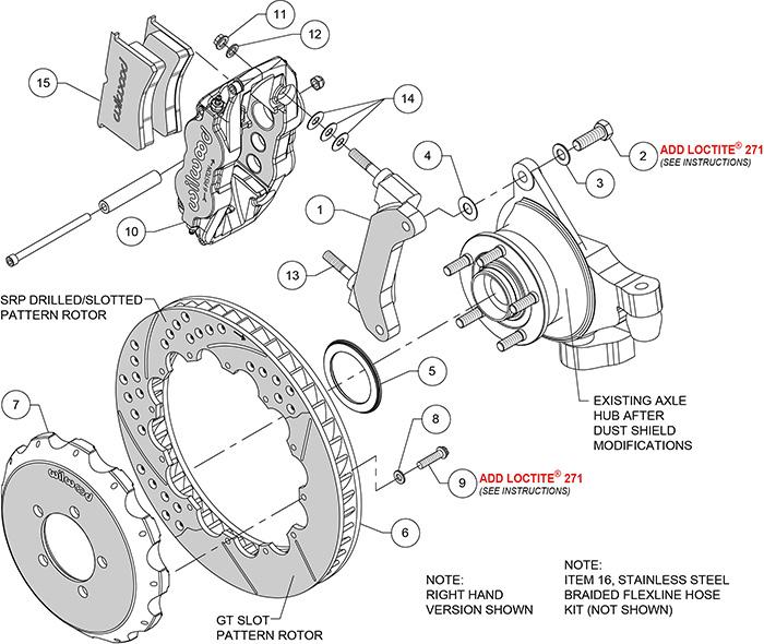 Wilwood Forged Narrow Superlite 6R Big Brake Front Brake