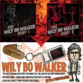 The Wily Bo Walker USB Keyring - Artwork © Nukui Bogard, Wily Bo Walker. All Rights Reserved