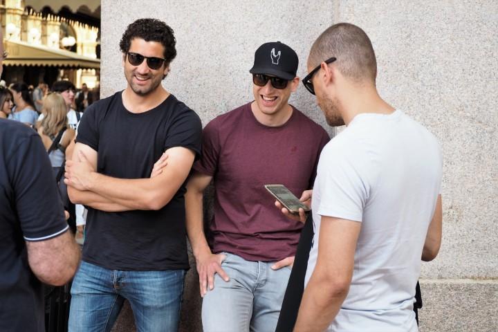 drie vrolijke mannen, Milaan