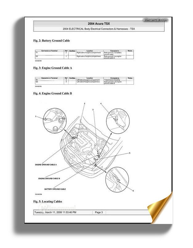 Acura Tsx 2003 2008 Body Electrical Connectors And Harnesses