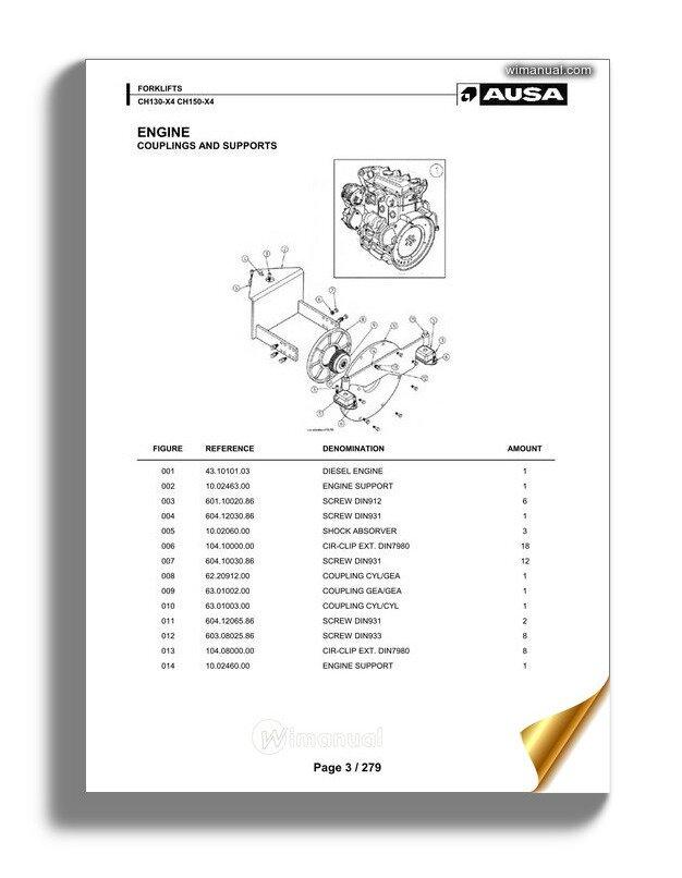 Ausa Forklift Ch130 Ch150 X4 Spare Parts