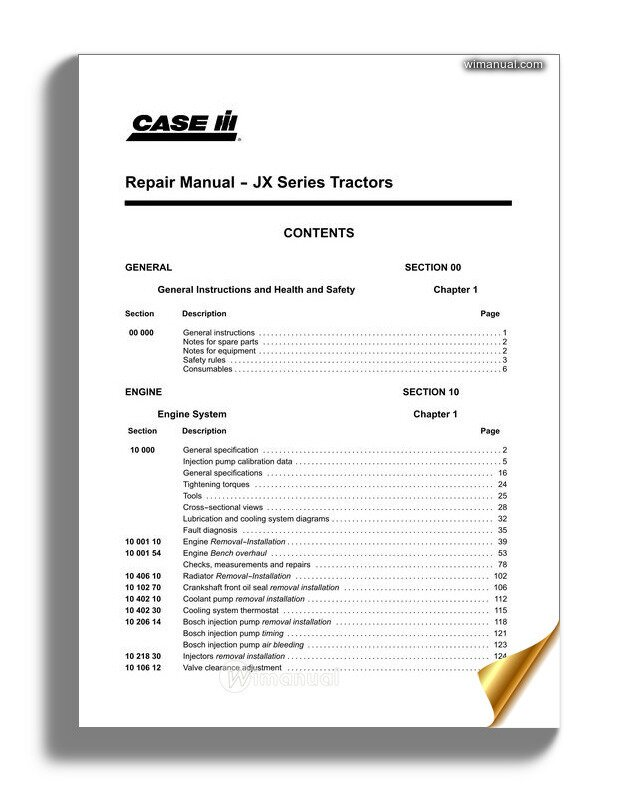 Case Jx60 70 80 90 95 Service Manuals