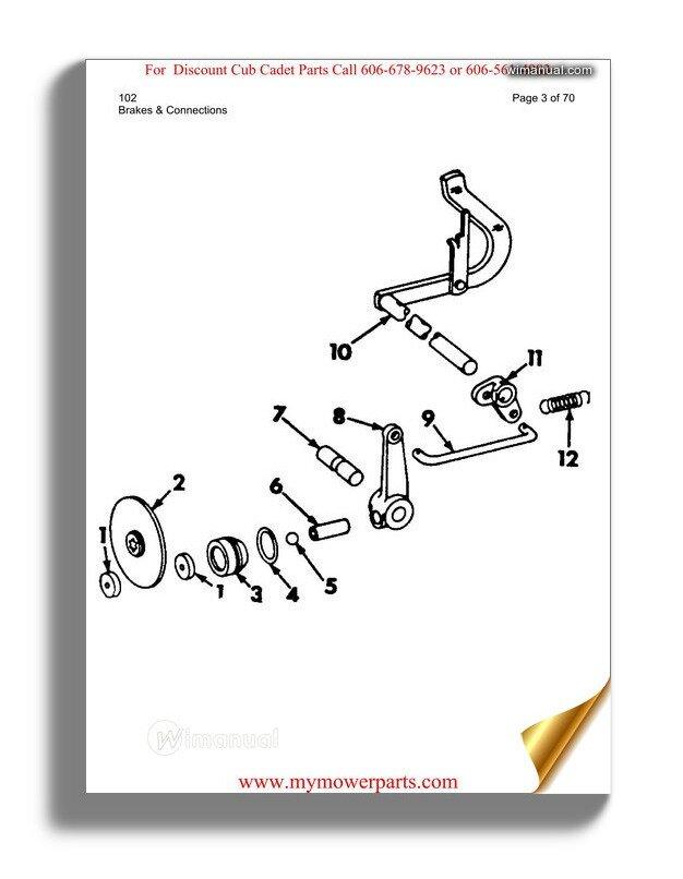 Cub Cadet Parts Manual For Model 102