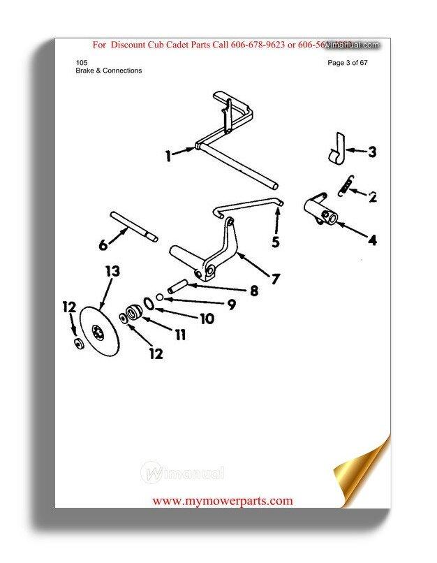 Cub Cadet Parts Manual For Model 105