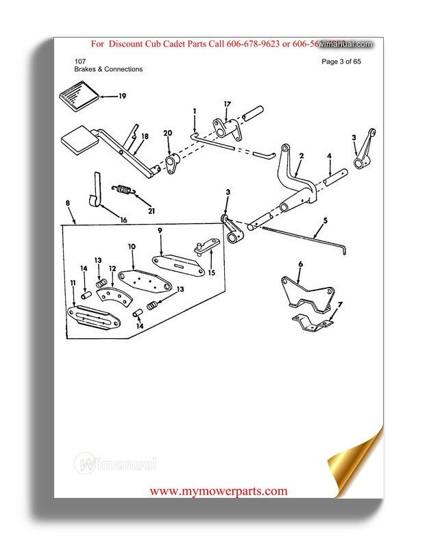 Cub Cadet Parts Manual For Model 107