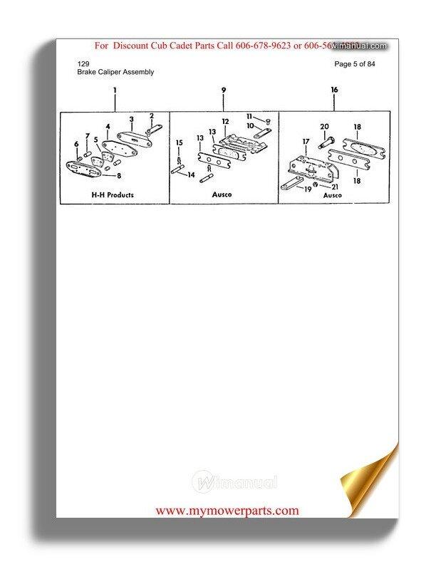 Cub Cadet Parts Manual For Model 111