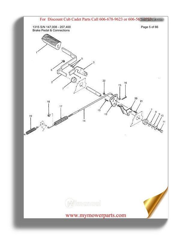 Cub Cadet Parts Manual For Model 1110