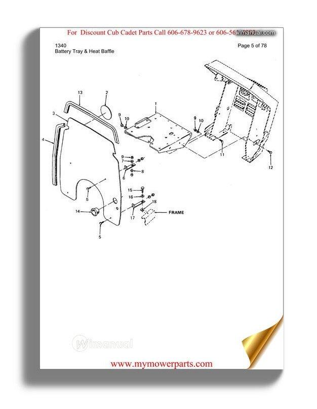 Cub Cadet Parts Manual For Model 1211 Sn 756300 799999