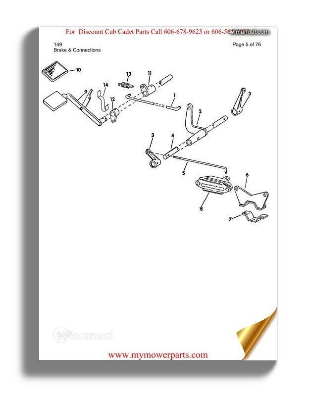Cub Cadet Parts Manual For Model 127