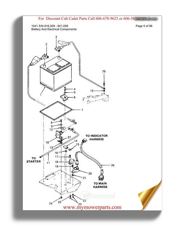Cub Cadet Parts Manual For Model 129