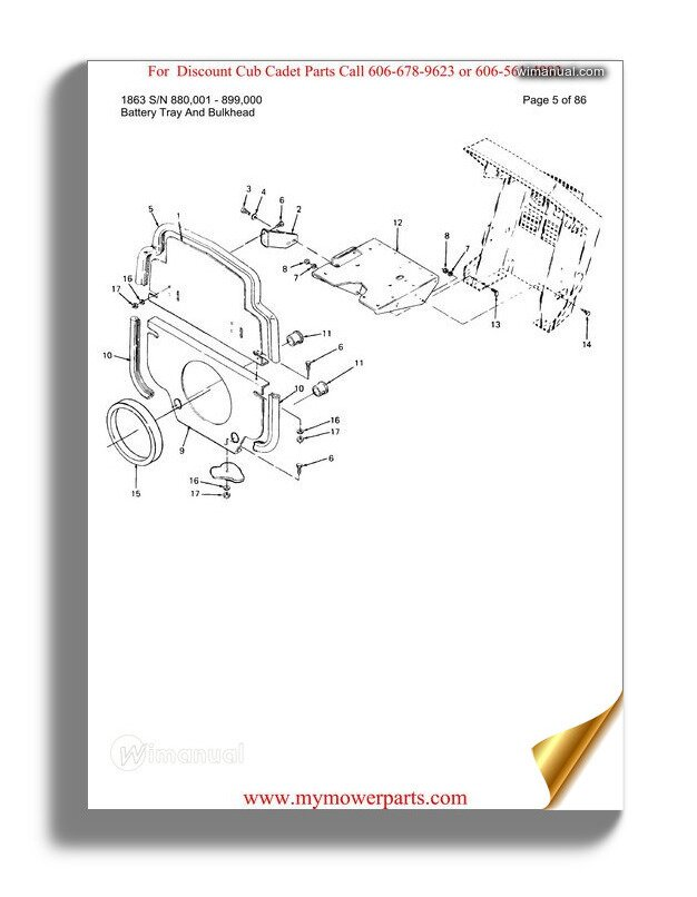 Cub Cadet Parts Manual For Model 1610