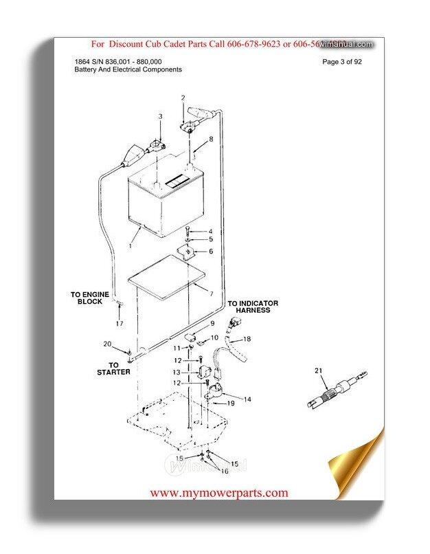 Wiring Diagram PDF: 1018 Cub Cadet Wiring Diagram